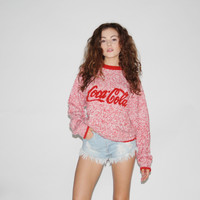 Coca Cola Vintage 1990s Red Oversized Sweater