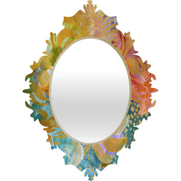 Madart Inc. Colorful Whimsy Background Baroque Mirror