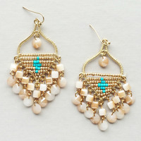 Moroccan Gold Beaded Earrings