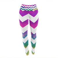 "Beth Engel ""Lucky Chevron"" Yoga Leggings"