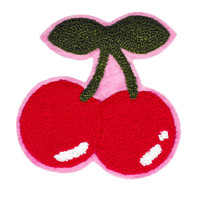 XL Extra Large 13cm Chenille Cherry Patch