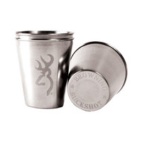 Browning Stainless Steel Shot Glass (2pk)