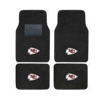 Licensed Official New 4pcs NFL Kansas City Chiefs Car Truck Front Rear Carpet Floor Mats Set