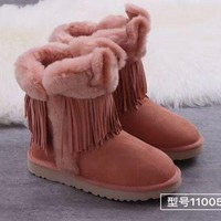 DCCK 'UGG 'Women Fashion Fur Leather Winter Snow Boots Shoes