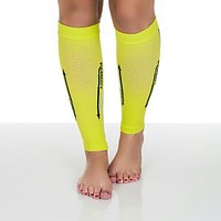 Remedy Calf Compression Running Sleeve Socks - Large - Yellow