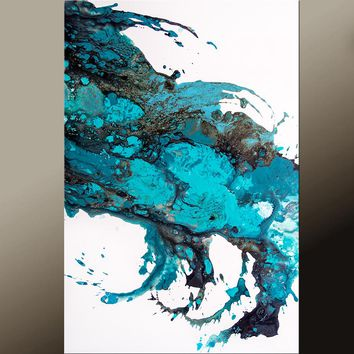 24x36 Abstract Canvas Art Print Contemporary Abstract Art by Destiny Womack - Star Dust - dWo