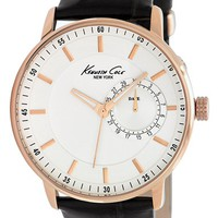 Men's Kenneth Cole New York Round Leather Strap Watch