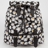 Daisy Print Backpack Black One Size For Women 23467010001