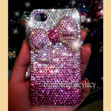 iphone case iphone 4 case bling crystal iphone case bow iphone case bow iphone 4 bow case bling iphone 4 case cute iphone 4 case cover