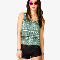 Tribal Print Burnout Tank