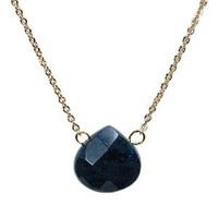 Designs by Stephene Pear Shaped Stone Necklace - Sodalite
