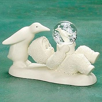 Snowbabies A Snow Bird Figurine with Snowglobe