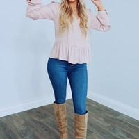 Smooth Talker Blouse: Baby Pink