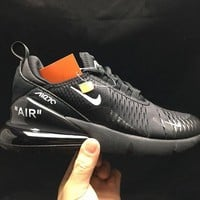 Nike Air Max 270 X OFF-White Black Running Shoes - Best Deal Online