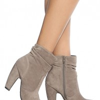 Taupe Faux Suede Chunky Ankle Booties @ Cicihot. Booties spell style, so if you want to show what you're made of, pick up a pair. Have fun experimenting with all we have to offer!