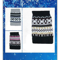 Women's Fair Isle Print Crochet Knit Boot Cuffs You CHOOSE COLOR USA Seller, gift