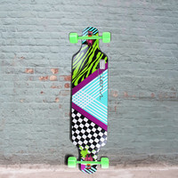 """Drop Through Bamboo Longboard from Ehlers Party Rock 40"""" - Complete"""