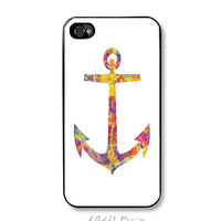 Nautical Anchor Psychedelic - Apple iPhone 4/4s Case. FREE SHIPPING - Worldwide.