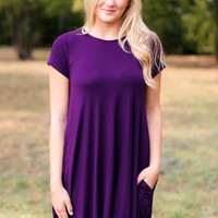 Weekend Wonder Dress - Plum