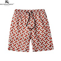 BURBERRY Trending Men Women Casual Print Sport Running Beach Shorts