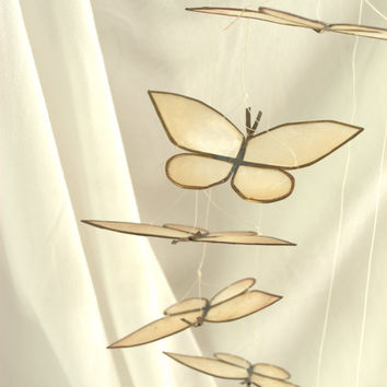 Boho Butterfly Hanging Shell Mobil