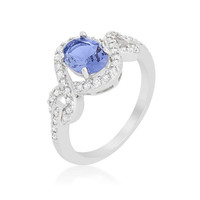 Tanzanite Halo Pave Cocktail Ring, size : 08