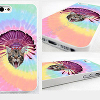 case,cover fits iPhone,iPod models>crazy cat,kitty,Tie Dye,indian hat,emoji,