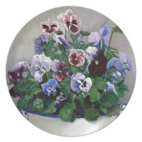 Plate with Pansies