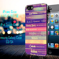 All of Books Disney and Friends Samsung Galaxy S3/ S4 case, iPhone 4/4S / 5/ 5s/ 5c case, iPod Touch 4 / 5 case