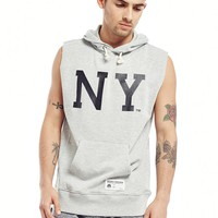 Majestic Athletic Topliss NY Cut Off Sleeveless Hoodie - The Street Edit - Inspiration | The Idle Man