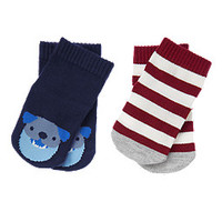 Puppy & Stripes Socks Two-Pack