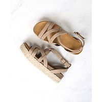 Strappy Sporty Espadrille Flatform Sandal Wedges - More Colors