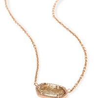 Elisa Pendant Necklace In Gold Dusted Glass