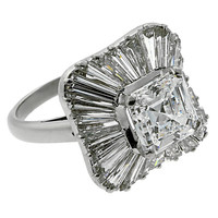 Bulgari 6.8 Carat GIA Cert Diamond Platinum Ballerina Engagement Ring