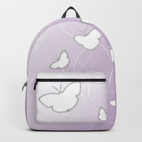 Butterflies | lilac color Backpack by edrawings38