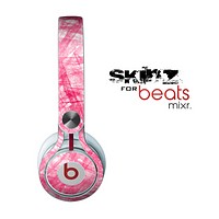 The Subtle Pink Watercolor Strokes Skin for the Beats by Dre Mixr Headphones