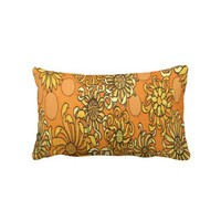 "Vintage Floral Gold ""Sunny Happy Day"" Pillow from Zazzle.com"