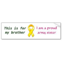 Proud Army Sister Bumper Sticker from Zazzle.com