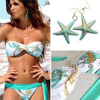 High Quality Sexy push up bikinis women bikini push up swimwear blue swimsuit bathing suits swimming suit for women bikini -0401