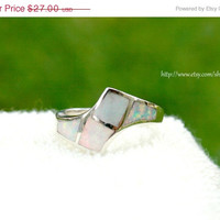 Boxing Day Sale Opal Ring,inlaid Opal Ring,Sterling Silver,october birthstone