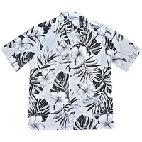 Waikiki White Hawaiian Cotton Aloha Shirt
