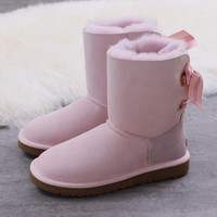 Women's UGG snow boots Middle boots DHL _1686248855-452