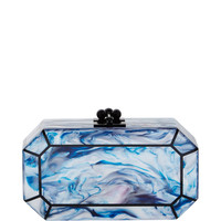 Fiona Faceted Acrylic Clutch