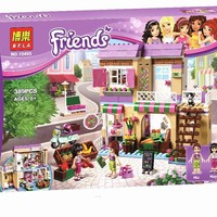 New BELA Friend Series City Food Market Building Blocks Friends Bricks Gift Toys Compatible With Legoingly Friends 41108