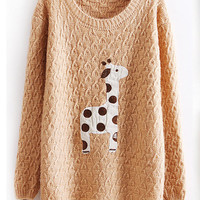 Lovely dots giraffe sweater-from socishop.com