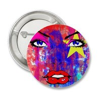 Glamour Buttons from Zazzle.com
