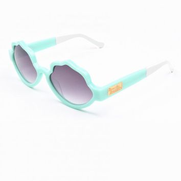 Eyewear - See Shells Seashell Frame Sunglasses in Mint Presale Bonus