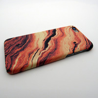 Newest Orange Marble Case for iPhone 6s 6 Plus & iPhone 7 7 Plus + Gift Box