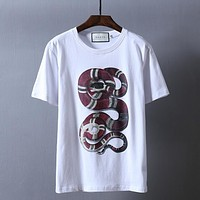 """Gucci""Hot Sale Pattern Print T-shirt Top Snake"