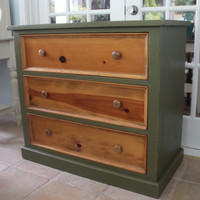 Hand Painted Rustic Vintage Dresser - local pickup/delivery only